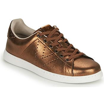 Sko Dame Lave sneakers Victoria TENIS METALIZADO Bronze