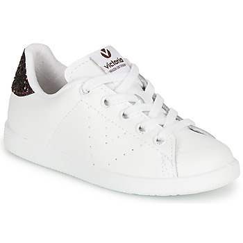 Sko Pige Lave sneakers Victoria TENIS PIEL Hvid / Bordeaux