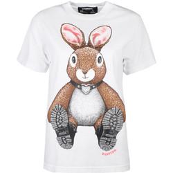 textil Dame T-shirts m. korte ærmer Domrebel  Hvid