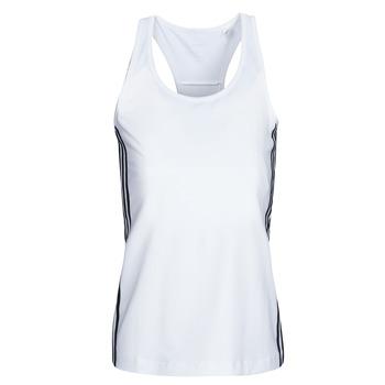 textil Dame Toppe / T-shirts uden ærmer adidas Performance W D2M 3S TANK Hvid