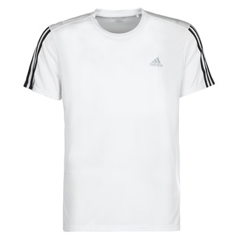 textil Herre T-shirts m. korte ærmer adidas Performance RUN IT TEE 3S M Hvid