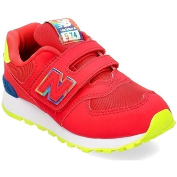 Sko Børn Lave sneakers New Balance 574 Rød,Gul