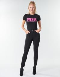 textil Dame Lærredsbukser Diesel P-CUPERY Sort