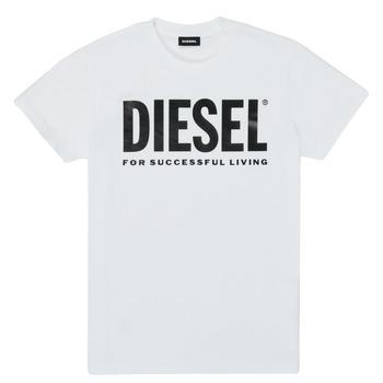 textil Børn T-shirts m. korte ærmer Diesel TJUSTLOGO Hvid
