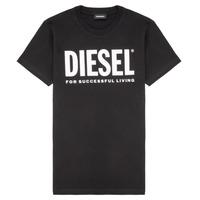textil Børn T-shirts m. korte ærmer Diesel TJUSTLOGO Sort