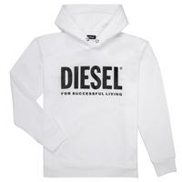 textil Dreng Sweatshirts Diesel SDIVISION LOGO Hvid