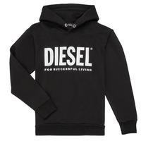 textil Dreng Sweatshirts Diesel SDIVISION LOGO Sort