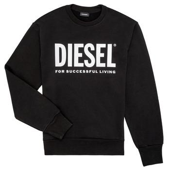 textil Dreng Sweatshirts Diesel SCREWDIVISION LOGO Sort