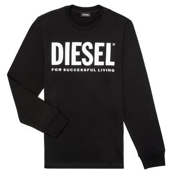 textil Dreng Langærmede T-shirts Diesel TJUSTLOGO ML Sort