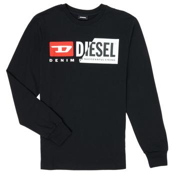 textil Børn Langærmede T-shirts Diesel TDIEGOCUTY Sort
