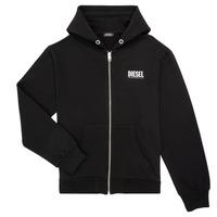 textil Dreng Sweatshirts Diesel SGIRKHOODZIP LOGO Sort