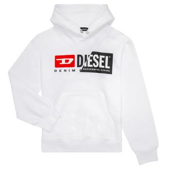 textil Børn Sweatshirts Diesel SGIRKHOODCUTY Hvid