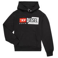 textil Børn Sweatshirts Diesel SGIRKHOODCUTY Sort