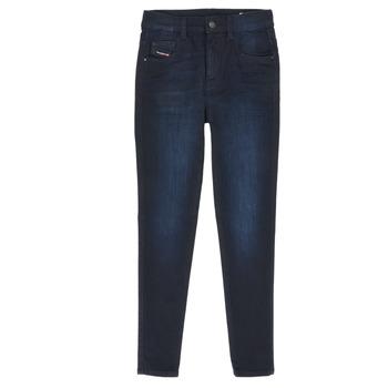 textil Pige Smalle jeans Diesel D-SLANDY HIGH Blå