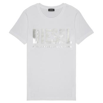 textil Pige T-shirts m. korte ærmer Diesel TSILYWX Hvid