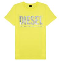 textil Pige T-shirts m. korte ærmer Diesel TSILYWX Gul