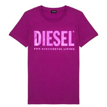textil Pige T-shirts m. korte ærmer Diesel TSILYWX Pink