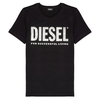 textil Pige T-shirts m. korte ærmer Diesel TSILYWX Sort