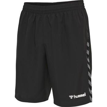 textil Dreng Shorts Hummel Short enfant  Training hmlAUTHENTIC noir/blanc