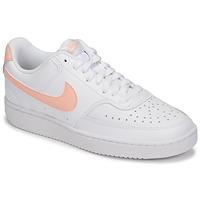 Sko Dame Lave sneakers Nike COURT VISION LOW Hvid / Pink