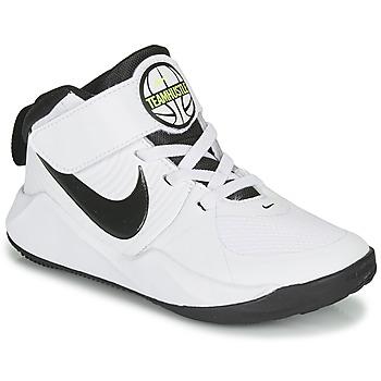 Sko Dreng Basketstøvler Nike TEAM HUSTLE D 9 PS Hvid / Sort
