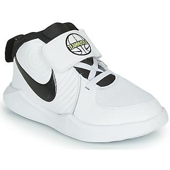 Sko Dreng Basketstøvler Nike TEAM HUSTLE D 9 TD Hvid / Sort