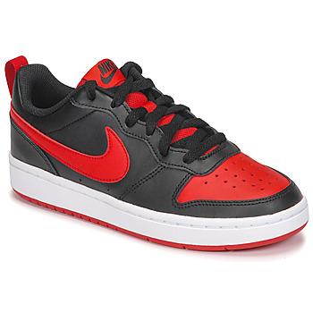 Sko Børn Lave sneakers Nike COURT BOROUGH LOW 2 GS Sort / Rød