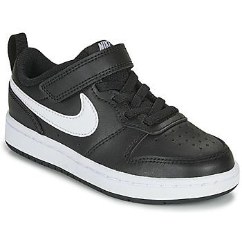 Sko Børn Lave sneakers Nike COURT BOROUGH LOW 2 PS Sort / Hvid