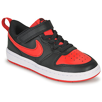 Sko Børn Lave sneakers Nike COURT BOROUGH LOW 2 PS Sort / Rød