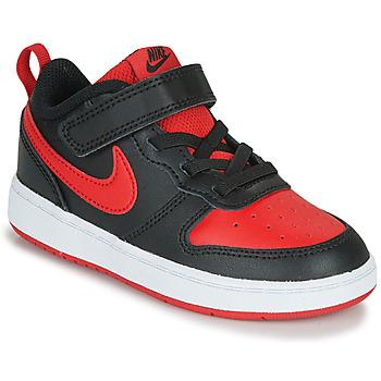 Sko Børn Lave sneakers Nike COURT BOROUGH LOW 2 TD Sort / Rød