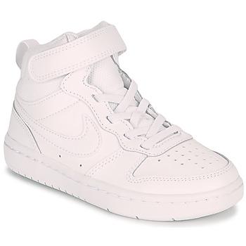 Sko Børn Lave sneakers Nike COURT BOROUGH MID 2 PS Hvid