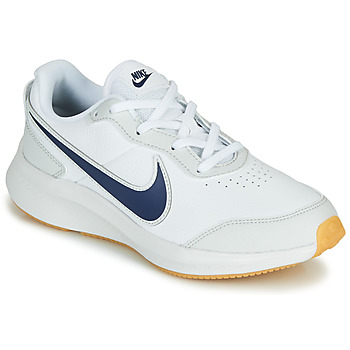 Sko Dreng Lave sneakers Nike VARSITY LEATHER GS Hvid / Blå
