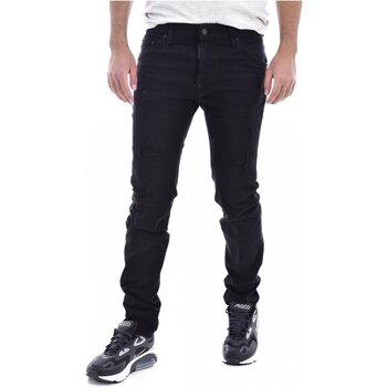 textil Herre Smalle jeans Dsquared S71LB0525 Sort