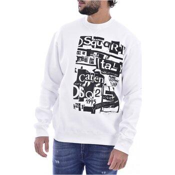 textil Herre Sweatshirts Dsquared S74GU0305 Hvid