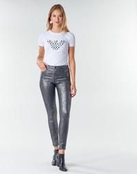 textil Dame Lærredsbukser Emporio Armani 6H2J20 Grå / Sølv