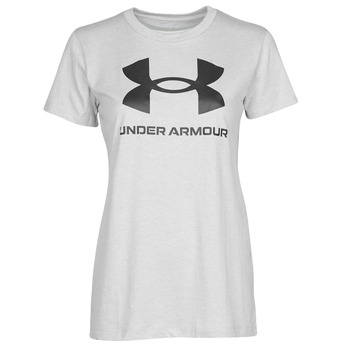 textil Dame T-shirts m. korte ærmer Under Armour GRAPHIC SSC Grå / Lys