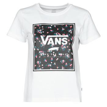 textil Dame T-shirts m. korte ærmer Vans BOXED IN BOXY Hvid