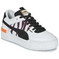Sko Dame Lave sneakers Puma CALI SPORT WILD Hvid / Sort