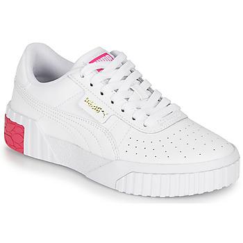 Sko Pige Lave sneakers Puma CALI JR Hvid / Pink