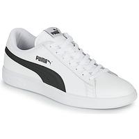 Sko Herre Lave sneakers Puma SMASH Hvid / Sort