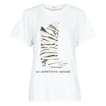 textil Dame T-shirts m. korte ærmer Replay W3509D Hvid