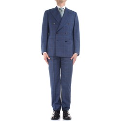 textil Herre Jakkesæt Cesare Attolini S20WA30 B12 Blue