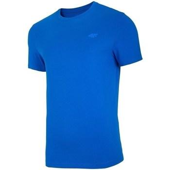 textil Herre T-shirts m. korte ærmer 4F TSM003 Blå