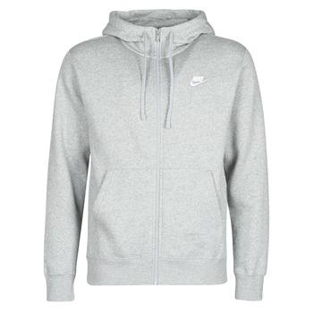 textil Herre Sweatshirts Nike M NSW CLUB HOODIE FZ BB Grå