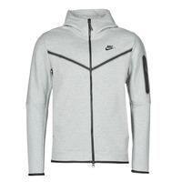 textil Herre Sportsjakker Nike M NSW TCH FLC HOODIE FZ WR Grå / Sort