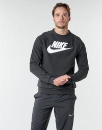 textil Herre Sweatshirts Nike M NSW MODERN CRW FLC HBR Sort / Hvid