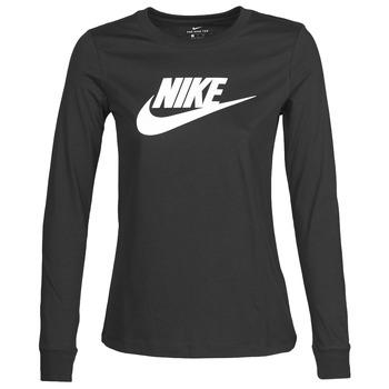 textil Dame Langærmede T-shirts Nike W NSW TEE ESSNTL LS ICON FTR Sort