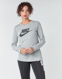 textil Dame Langærmede T-shirts Nike W NSW TEE ESSNTL LS ICON FTR Grå