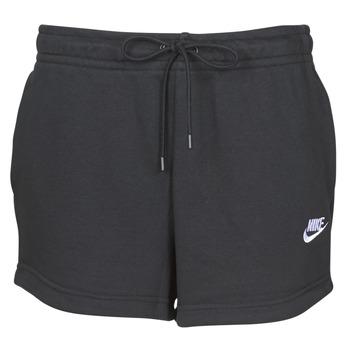 textil Dame Shorts Nike W NSW ESSNTL SHORT FT Sort