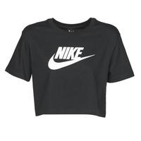 textil Dame T-shirts m. korte ærmer Nike W NSW TEE ESSNTL CRP ICN FTR Sort